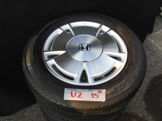 15 INCH USED ALLOY WHEEL & TYRE (FOUR)